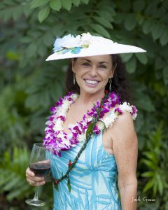 Susan Beall celebrates a birthday at MAPA's Garden Party in 2015.