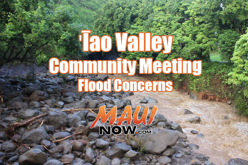 ʻĪao Valley community meeting to address flood concerns.