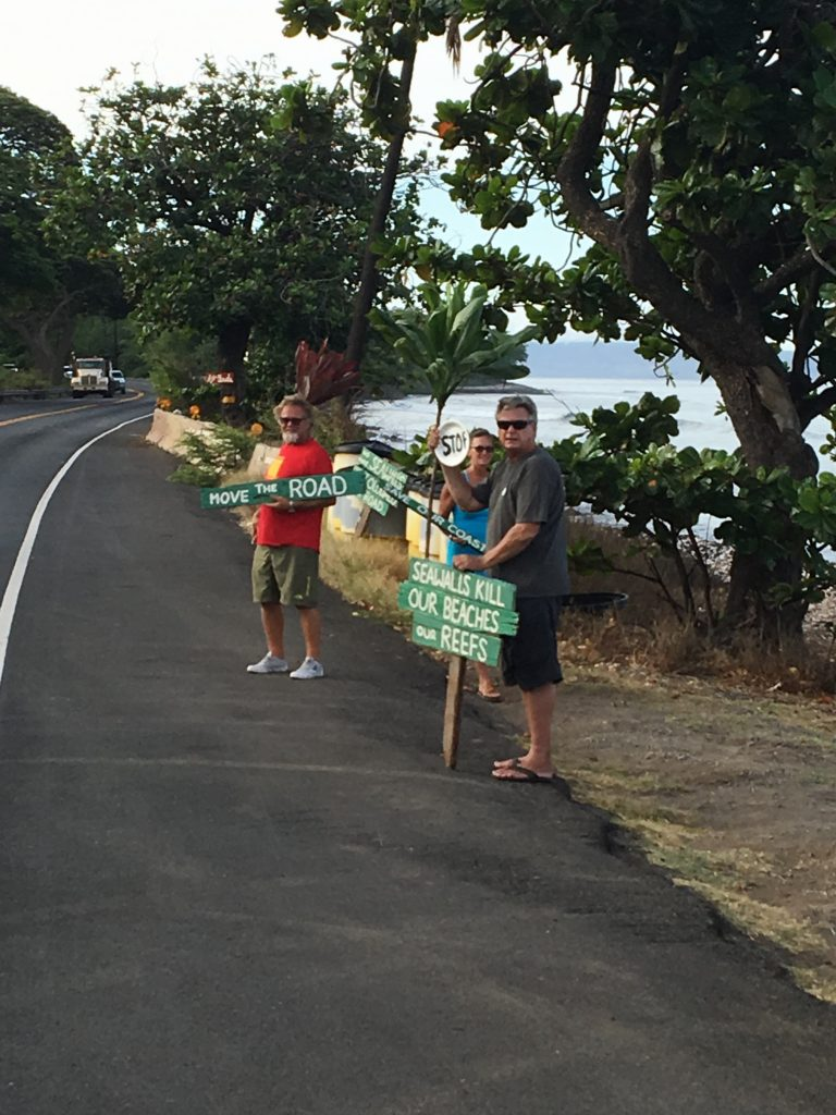 Olowalu seawall protest. PC: 9.12.16 Albert Perez