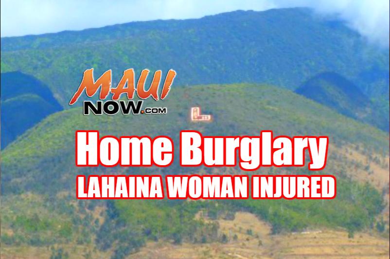 Home burglary, Lahaina. File image/graphics: Maui Now