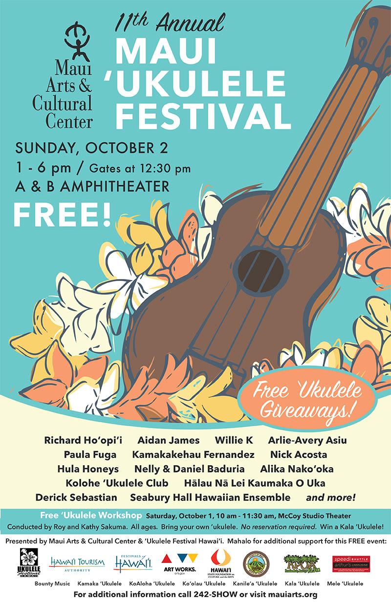 11th Annual Maui 'Ukulele Festival, event flyer.