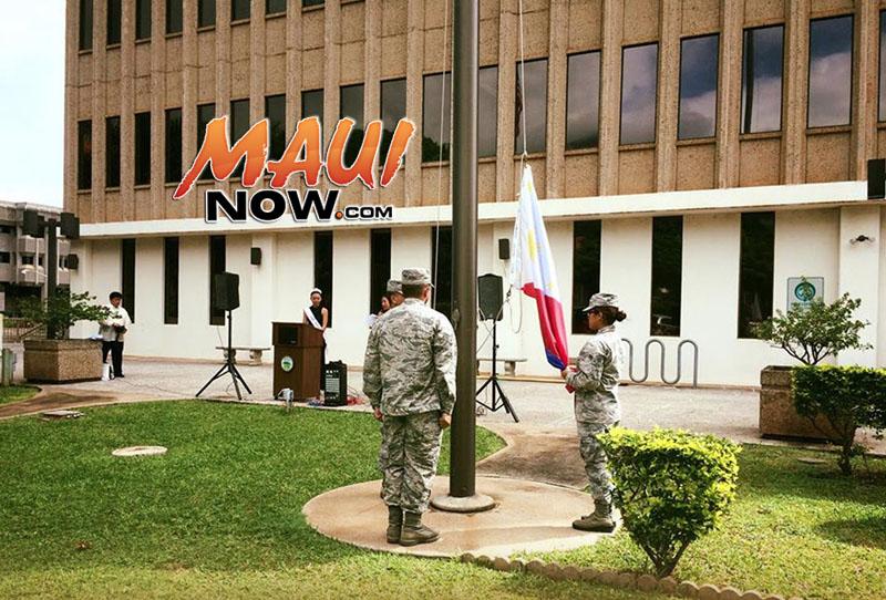 Philippine Flag Raising Ceremony. Image: County of Maui.