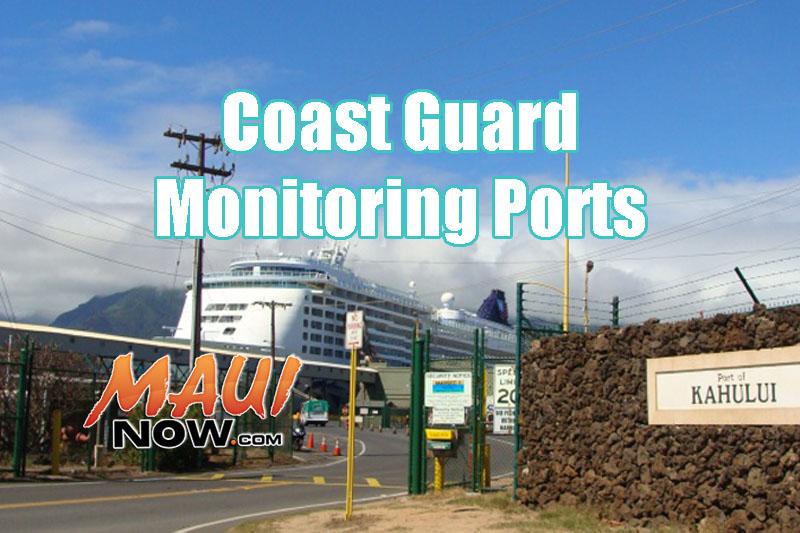 Coast Guard monitoring ports in advance of Lester.
