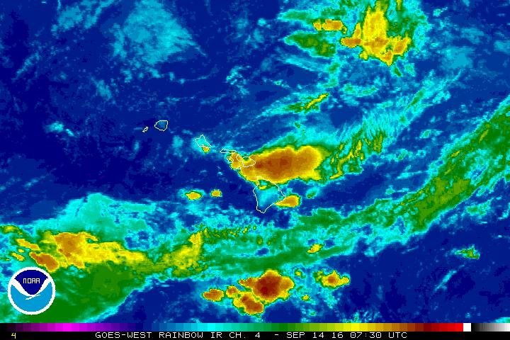 Satellite imagery as of 10 p.m. 9.13.16. Image credit: NOAA/NWS.