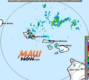 Maui radar 9.16.16 4 p.m. image courtesy NOAA/NWS.