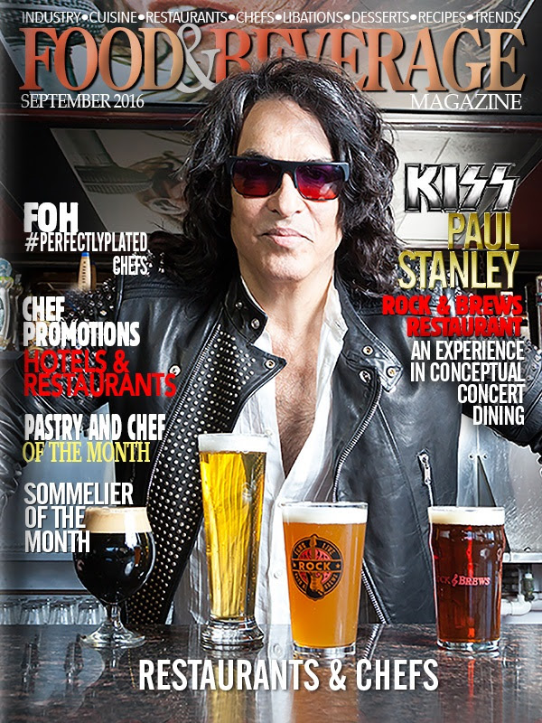 Paul Stanley, co-founder of Rock & Brews is featured on this months Food and Beverage magazine.