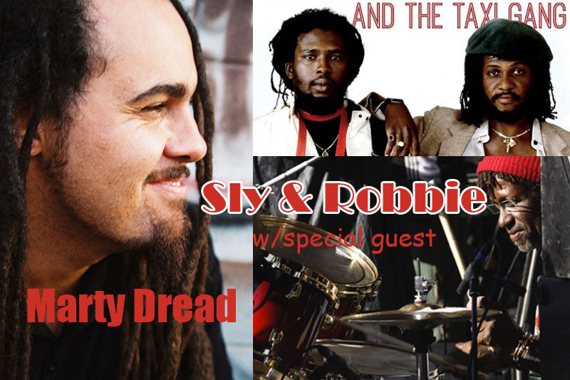 Sly & Robbie with special guest, Maui's own Marty Dread. Courtesy photos.