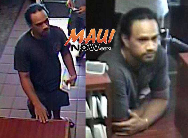 Surveillance images courtesy: Maui Police Department.