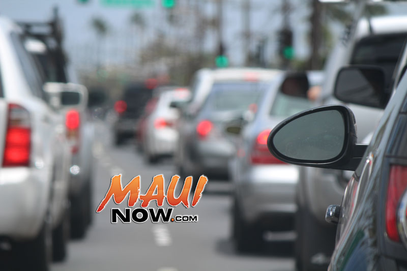 Maui Now traffic-plan your route. Photo by Wendy Osher.