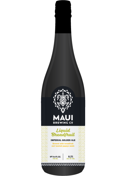 """Maui Brewing Co. has partnered with Dogfish Head Craft Brewery for the arrival of """"Liquid Breadfruit,"""" brewed with toasted papaya seeds to give mild bitterness, and notes of pink peppercorn and 'Ulu (breadfruit) to lend rich tropical fruit character with hints of fresh baked bread. The beer will be available in the Kihei Tasting Room on Sept. 16 for a limited time."""