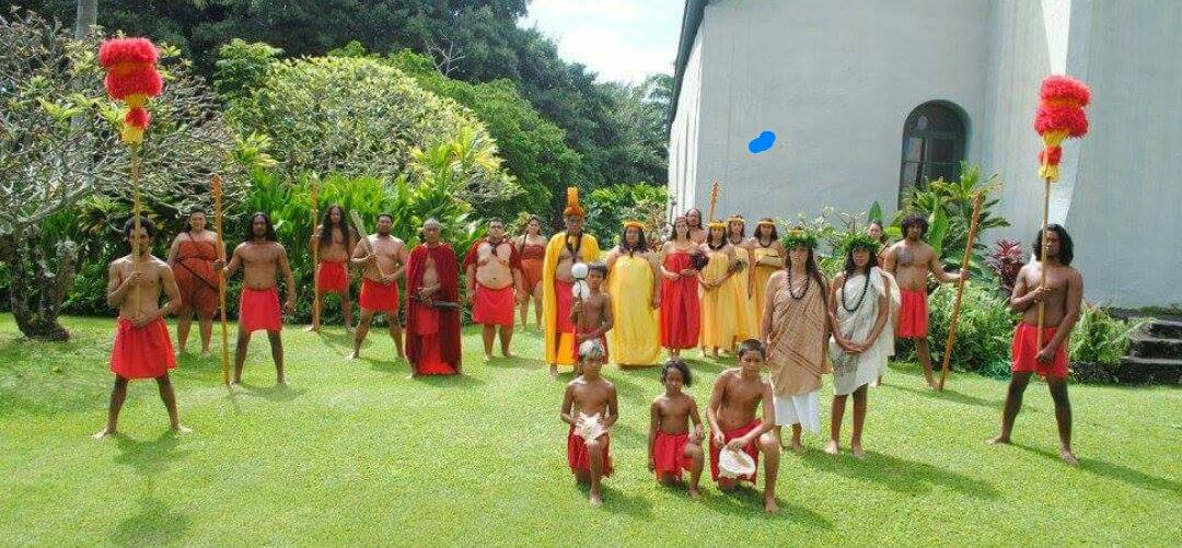 2016 Festivals of Aloha Hana Royal Court, represented by the Lono ʻOhana. PC: Frances Kalaola