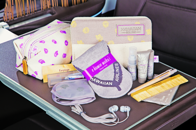 Premium Cabin amenity kits. PC: Rae Huo photo 9/16.