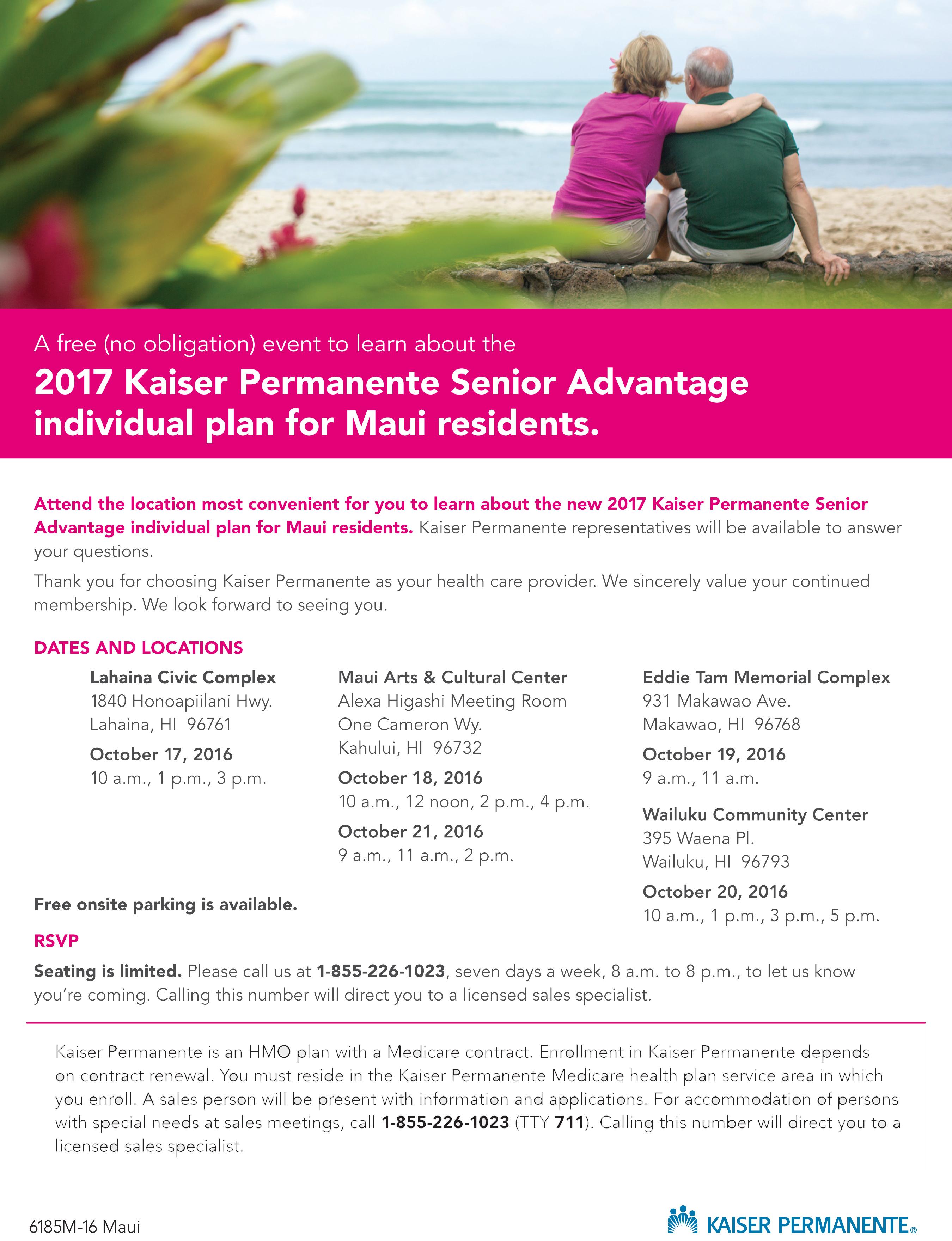 """Maui Now : Kaiser to Discontinue """"Basic"""" and """"Enhanced"""" Senior ..."""