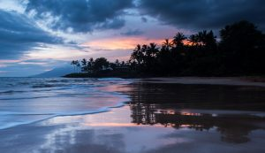 Sunset at a beach in Wailea. Photo Image: Chris Archer