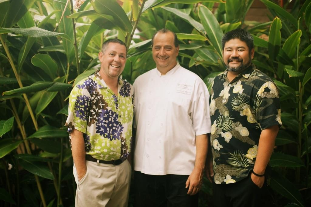 The Westin Kā'anapali Ocean Resort Villas food and beverage team was recognized for its excellence in the hospitality industry. From left to right: Cy Gabourie, director of restaurants and bars, Francois Milliet, executive chef and Brandon Maeda, director of food and beverage. Photo Courtesy.