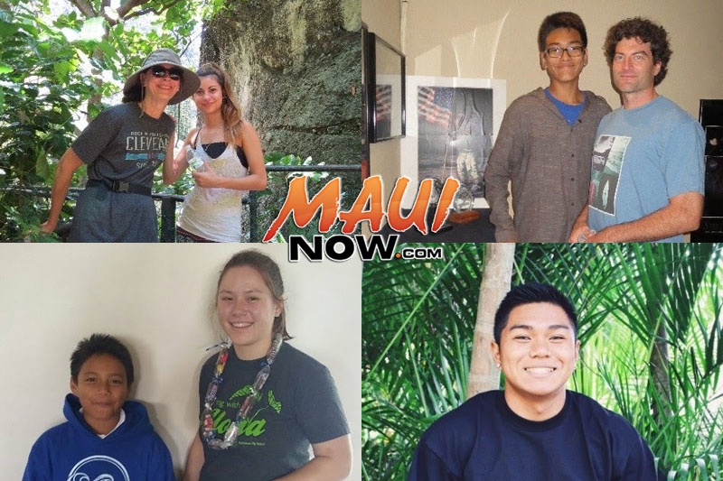 (Top Left) Big Sister Pat Podach with Little Sister Mia. (Top Right) Little Brother Chase with Big Brother Steve Pisacano. (Bottom Left) Little Brother Nainoa with Big Sister Keely Lindsey. (Bottom Right) Big Brother Jared Matias.