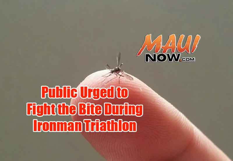 Public urged to Fight the Bite during the Ironman triathlon. Maui Now image.
