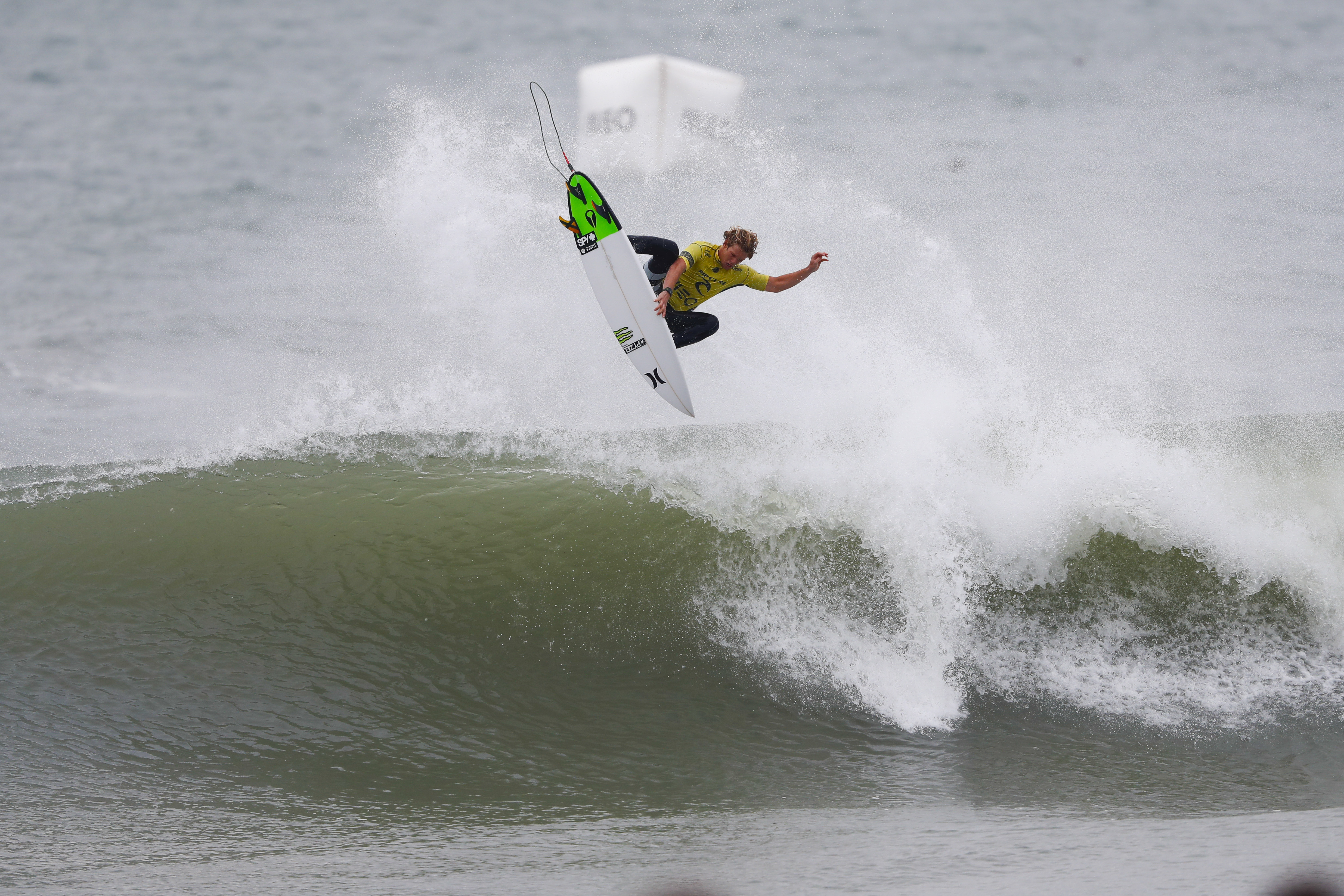 John John Florence winning the Final of the Rip Curl Pro Portugal. Photo: WSL