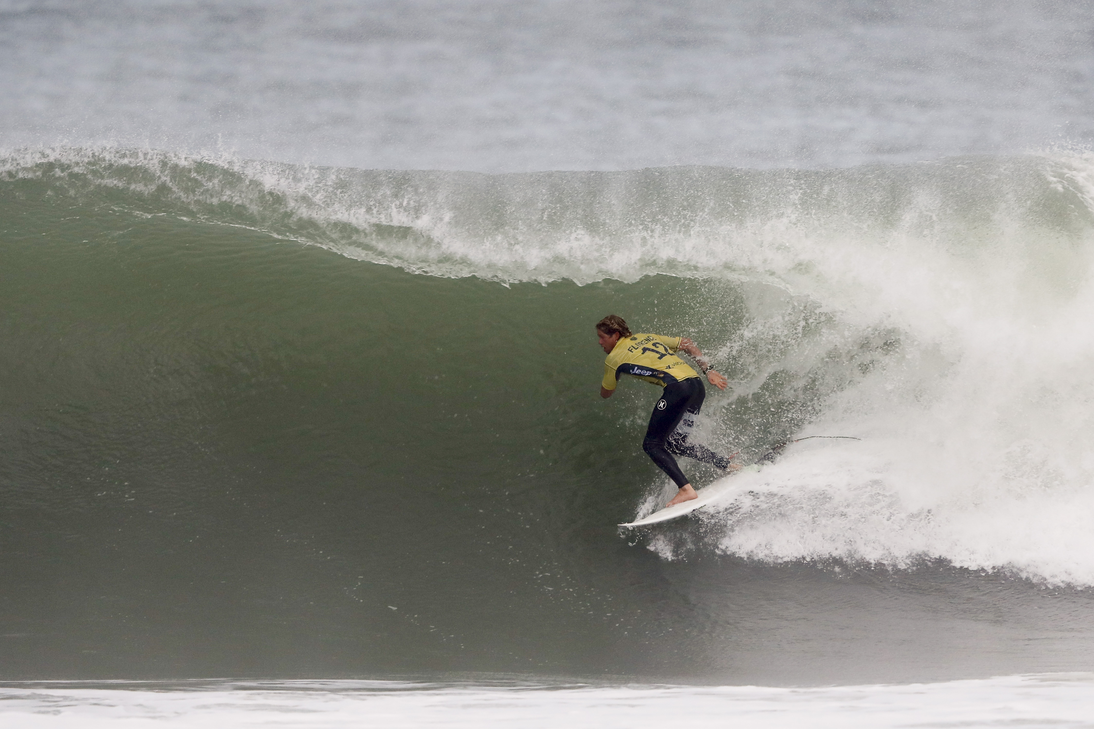 John JOhn Florence during the Semifinals of the Rip Curl Pro Portugal. Photo: WSL