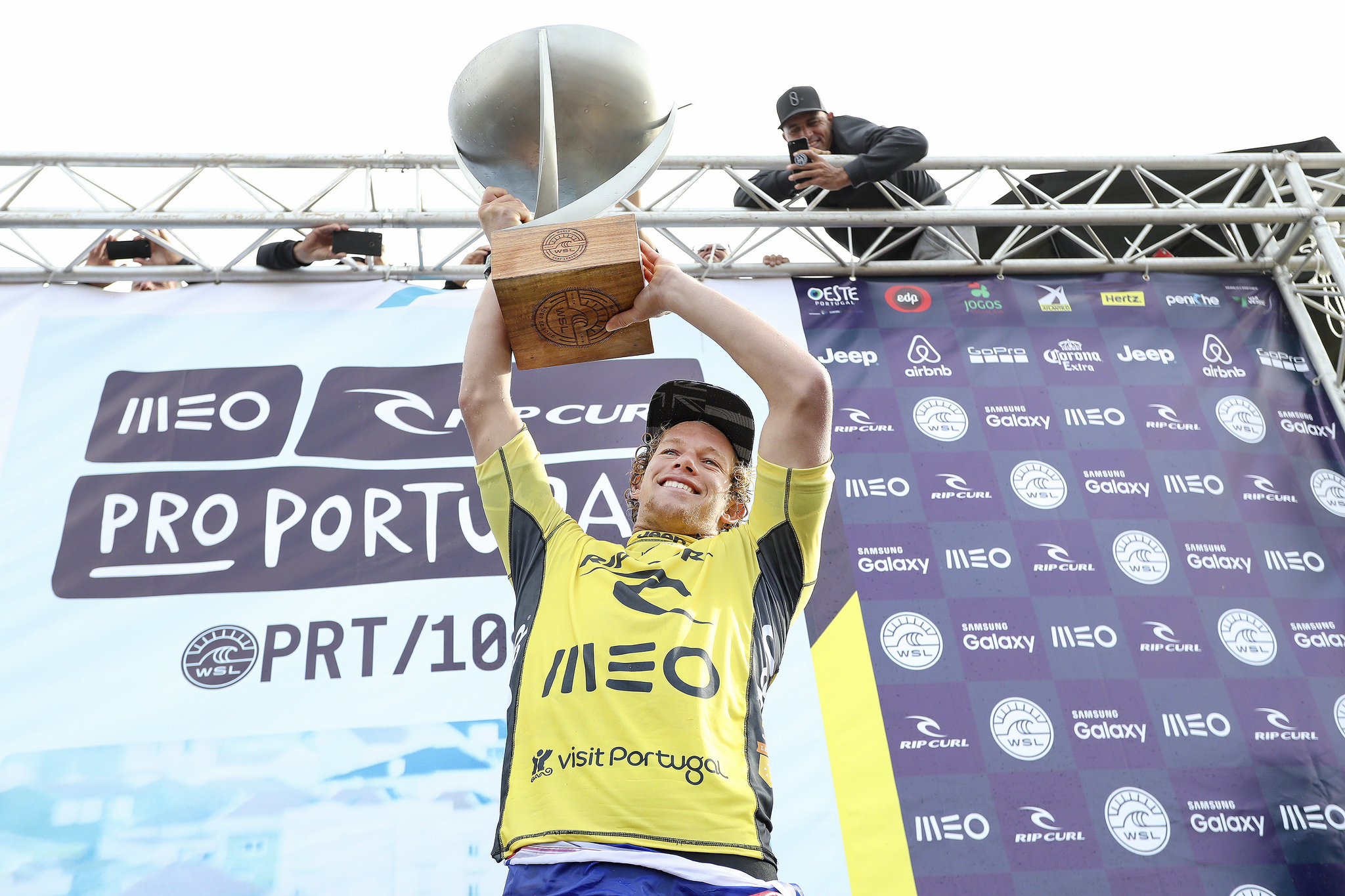 John John Florence is the 2016 World Champion and the Rip Curl Pro Portugal Winner. Photo: WSL