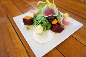 1st course of Black Rocktoberfest menu at Sheraton: Maui Upcountry Beet Salad. Courtesy photo.