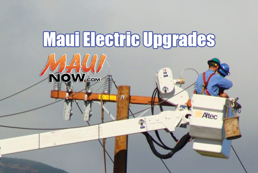 Maui Electric Company upgrades. File photo by Wendy Osher.