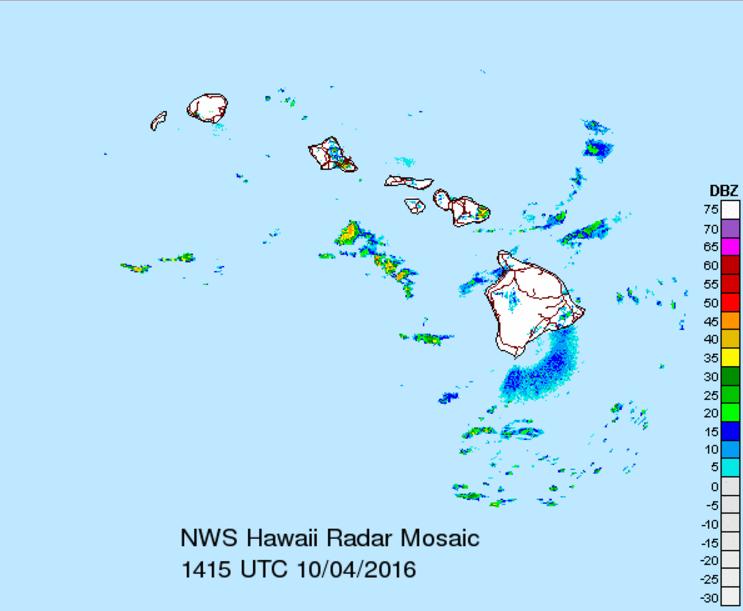 Radar, 10.4.16. Image credit: NWS/NOAA.