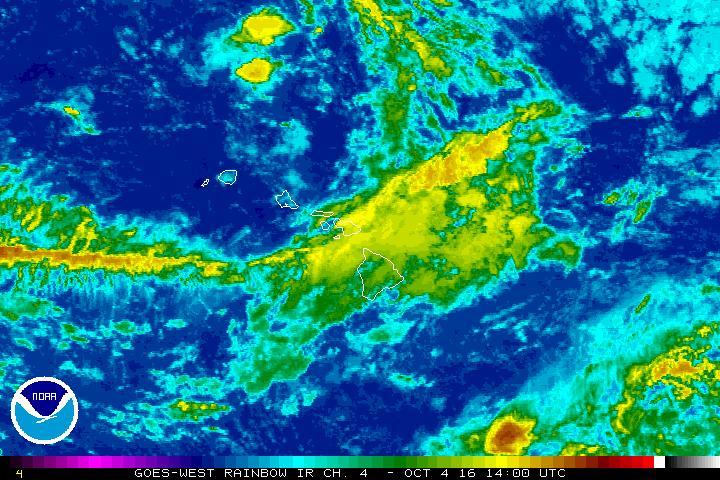 Satellite imagery, 10.4.16. Credit: NOAA/NWS