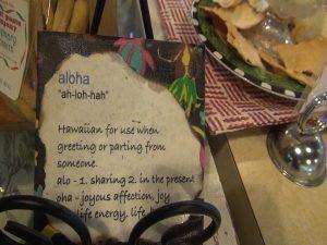 Decor at Maui Pasta Company.  Photo by Kiaora Bohlool.
