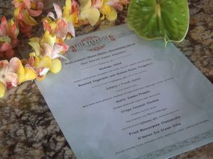 The prix-fixe menu at Pita Paradise during Restaurant Week Wailea 2016. Photo by Kiaora Bohlool.