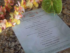 The prix-fixe menu at Pita Paradise during Restaurant Week Wailea 2016. Photo by Kiaora Bohlool.