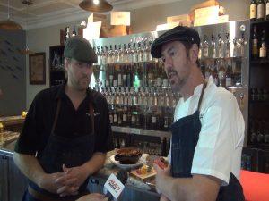 Matteo's Chef de Cuisine Rodney Mann and Chef/ Owner Matteo Mistura. Photo by Kiaora Bohlool.