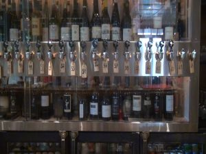 Matteo's wine wall, offering a huge selection of 64 wines by the glass. Photo by Kiaora Bohlool.