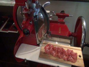 Historic Italian meat slicer, used at Matteo's. Photo by Kiaora Bohlool.