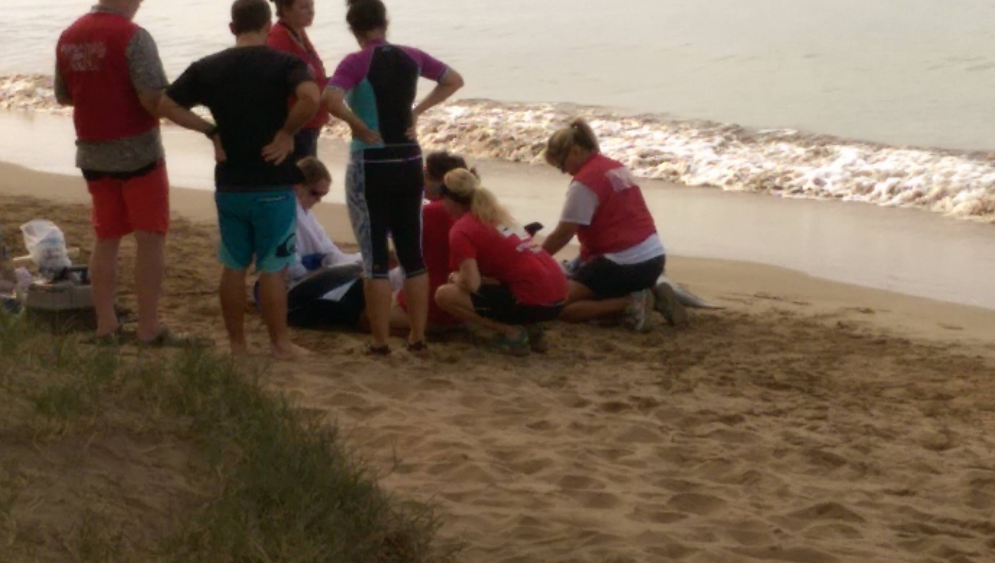 Marine mammal rescue at Sugar Beach in South Maui, 11.22.16. PC: Scot Prince