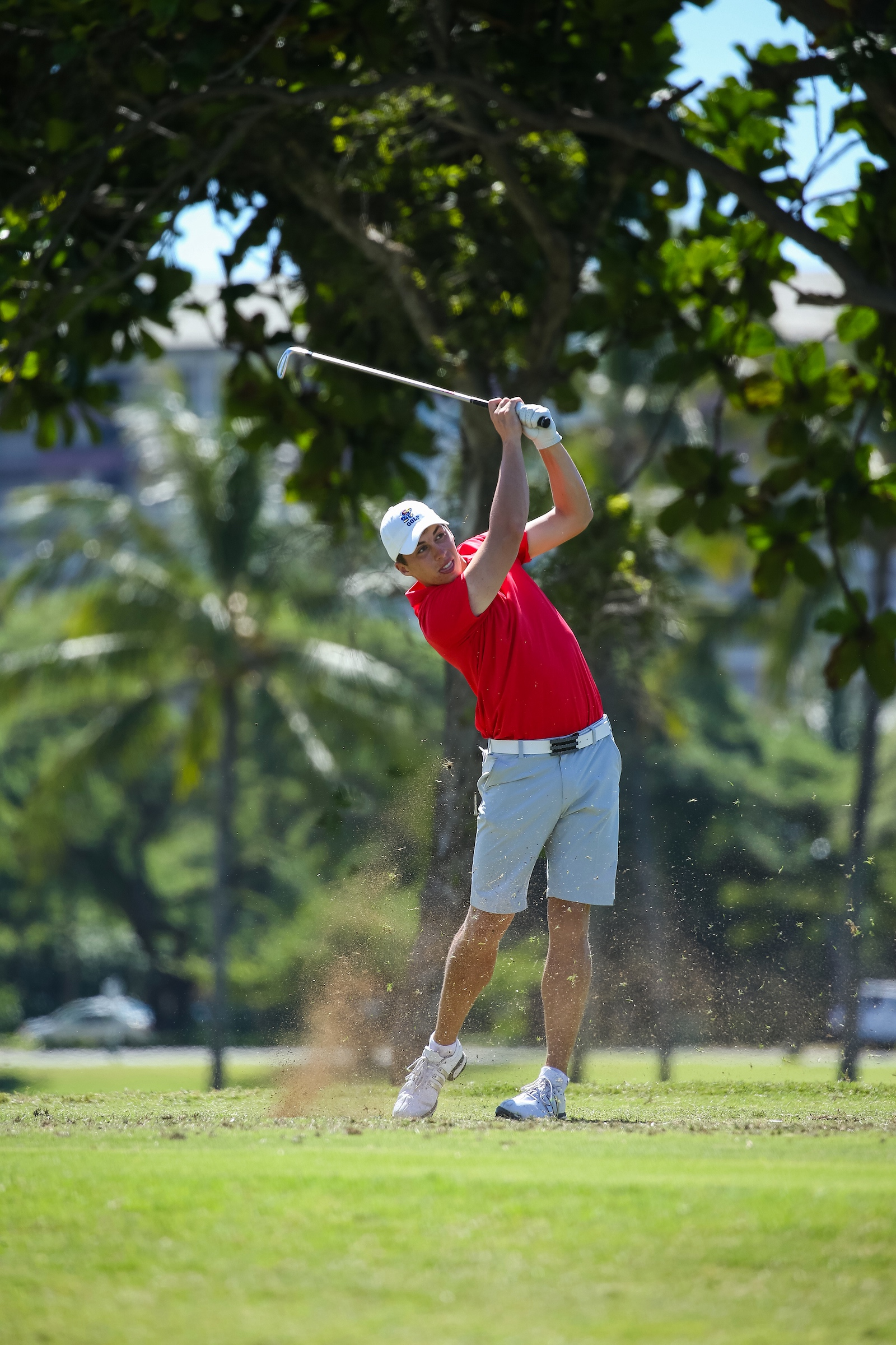 Chase Hanna of kansas tees off on number seventeen during the second round of the 3rd annual Kaanapali Classic collegiate invitational. Kaanapali Royal Course Lahaina, Hawaii November 5th, 2016/ Photo by Aric Becker