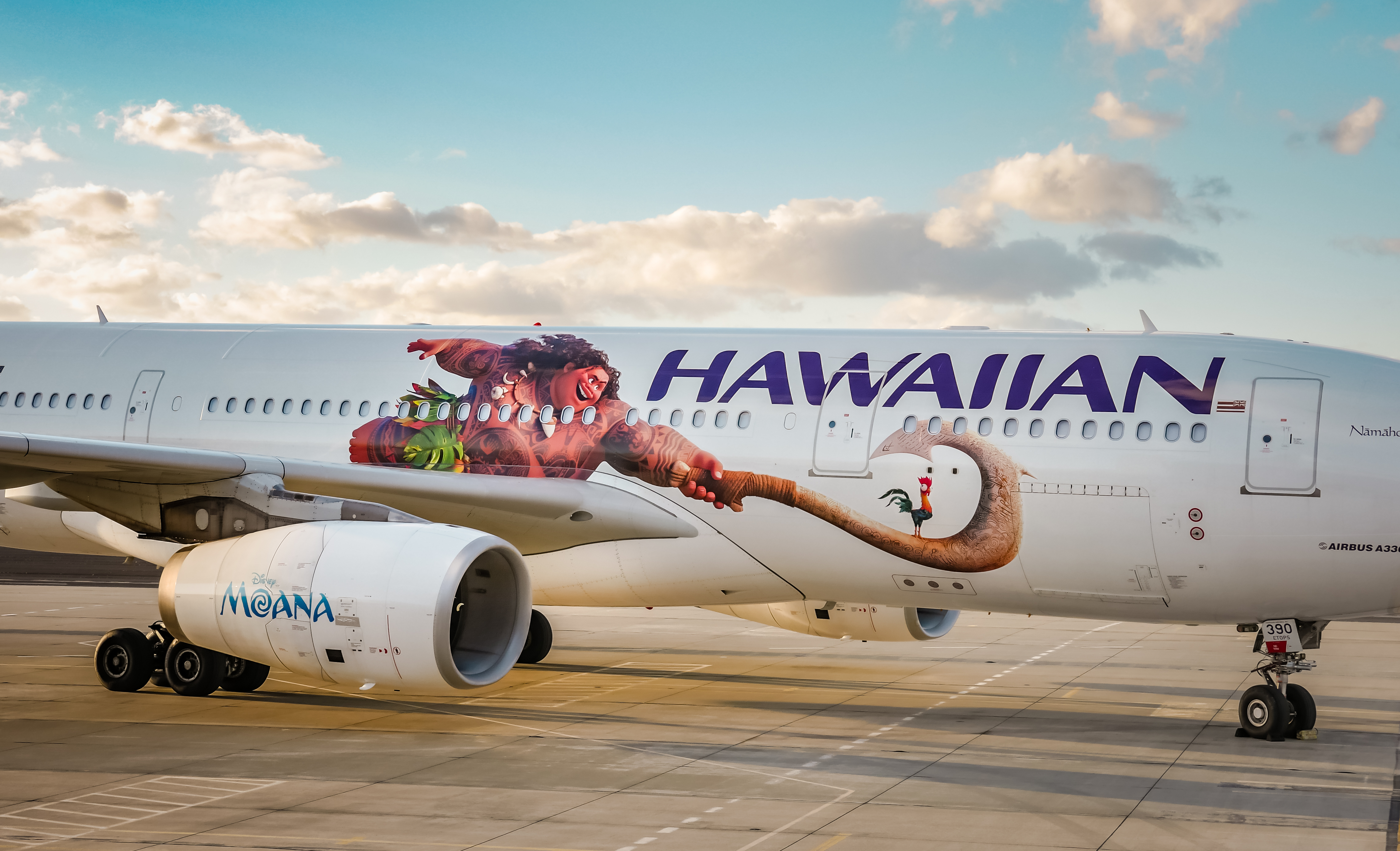 "PC: Hawaiian Airlines. Second ""Moana"" themed aircraft unveiled."