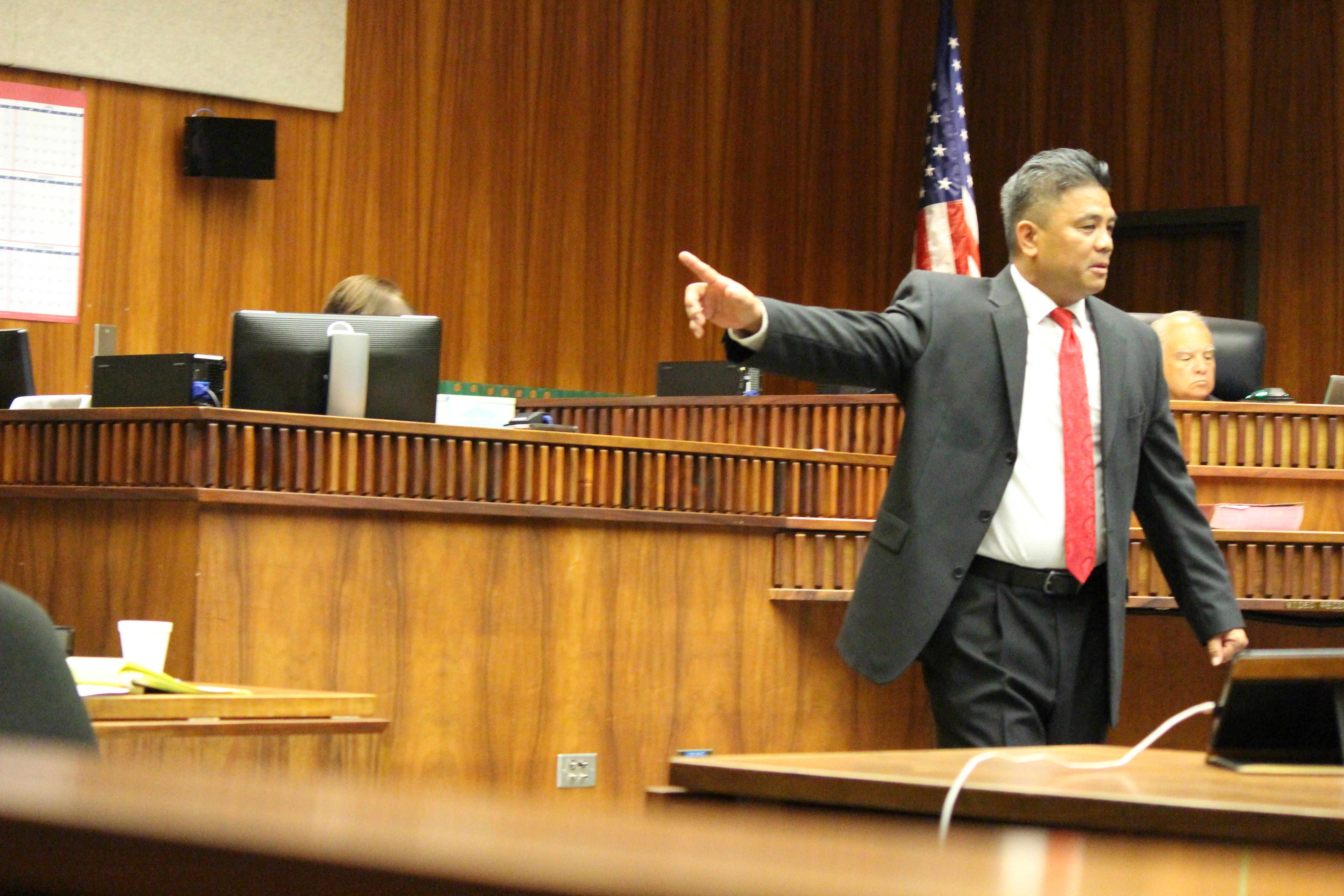 Prosecuting Attorney Robert Rivera. Photo 11.29.16 by Wendy Osher.