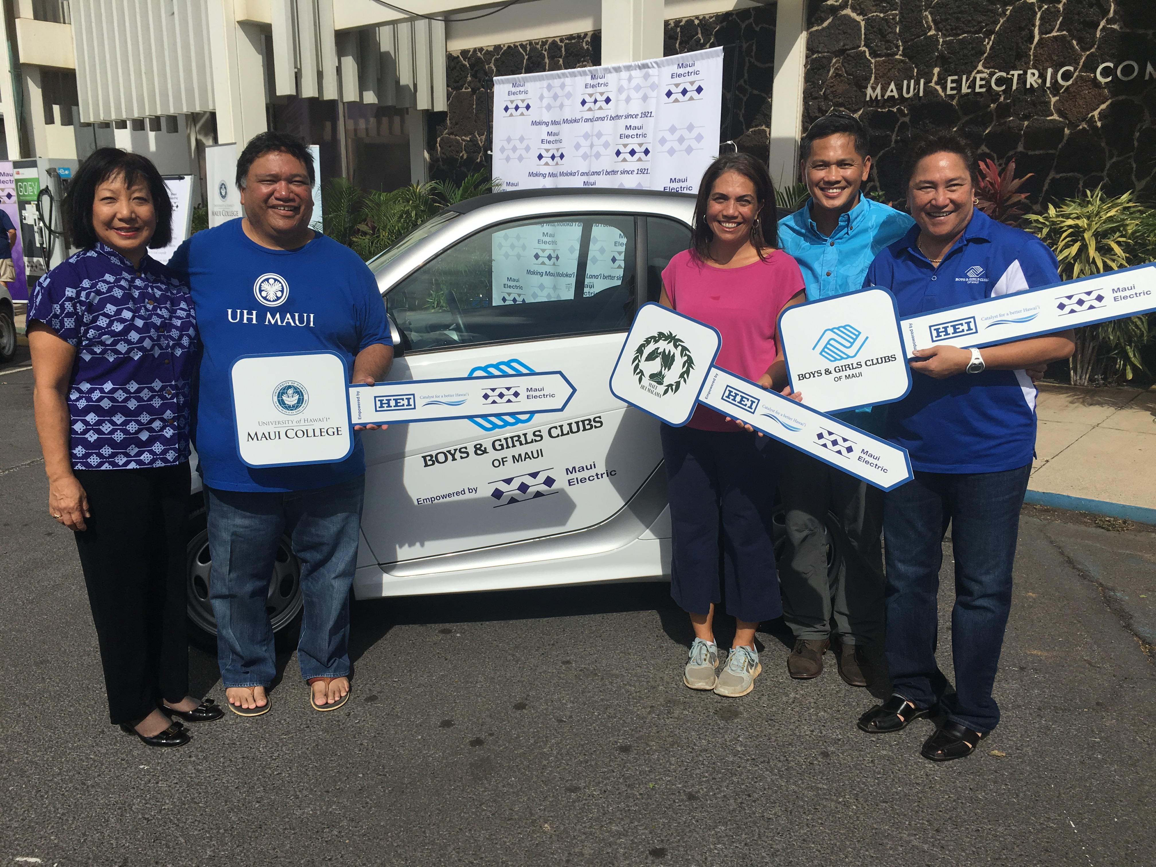Maui Electric and HEI Smart Car Donation.
