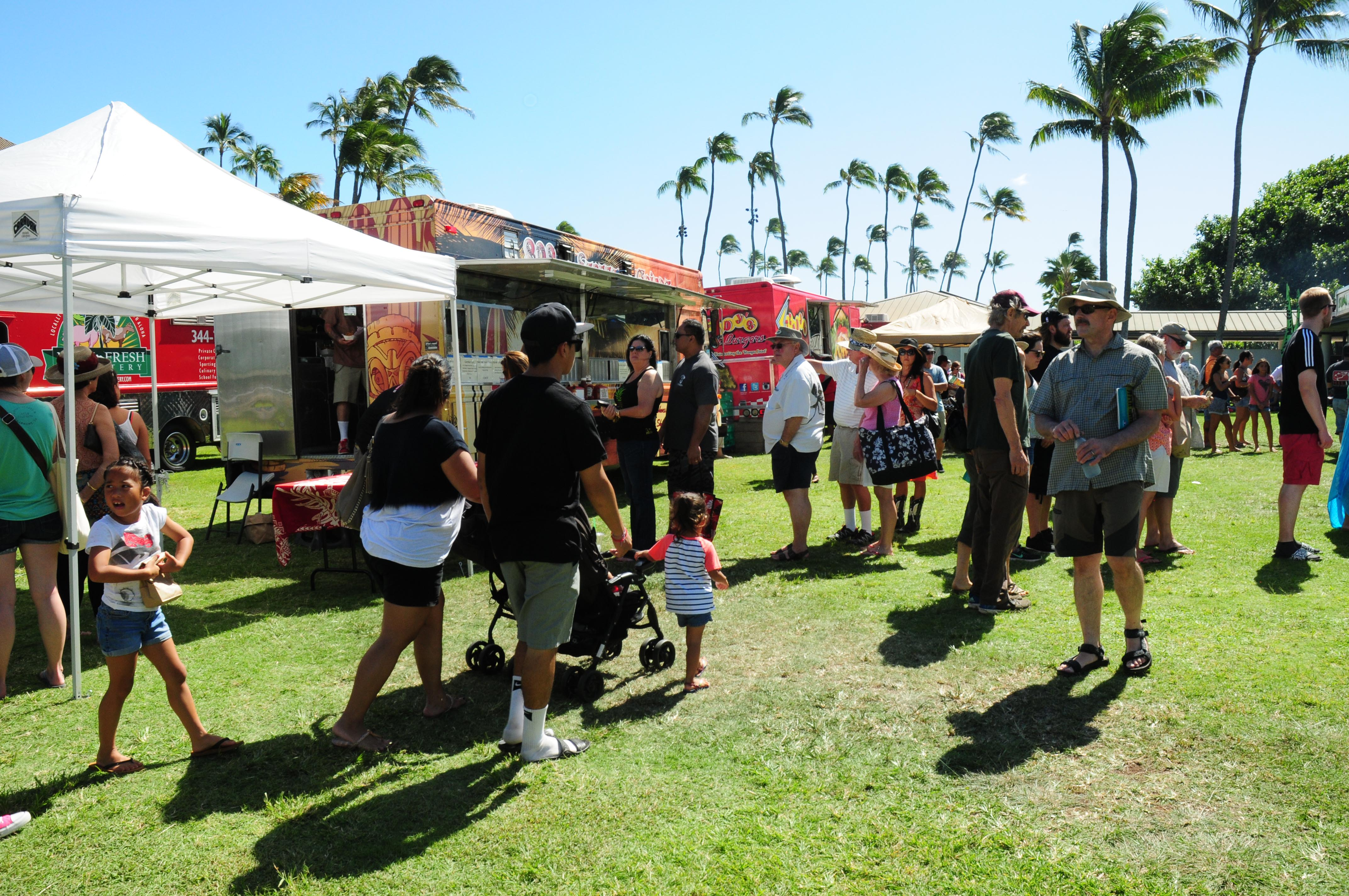 On Saturday, a total of 12 food trucks offered a diverse menu of island cuisine. Photo by Casey Nishikawa