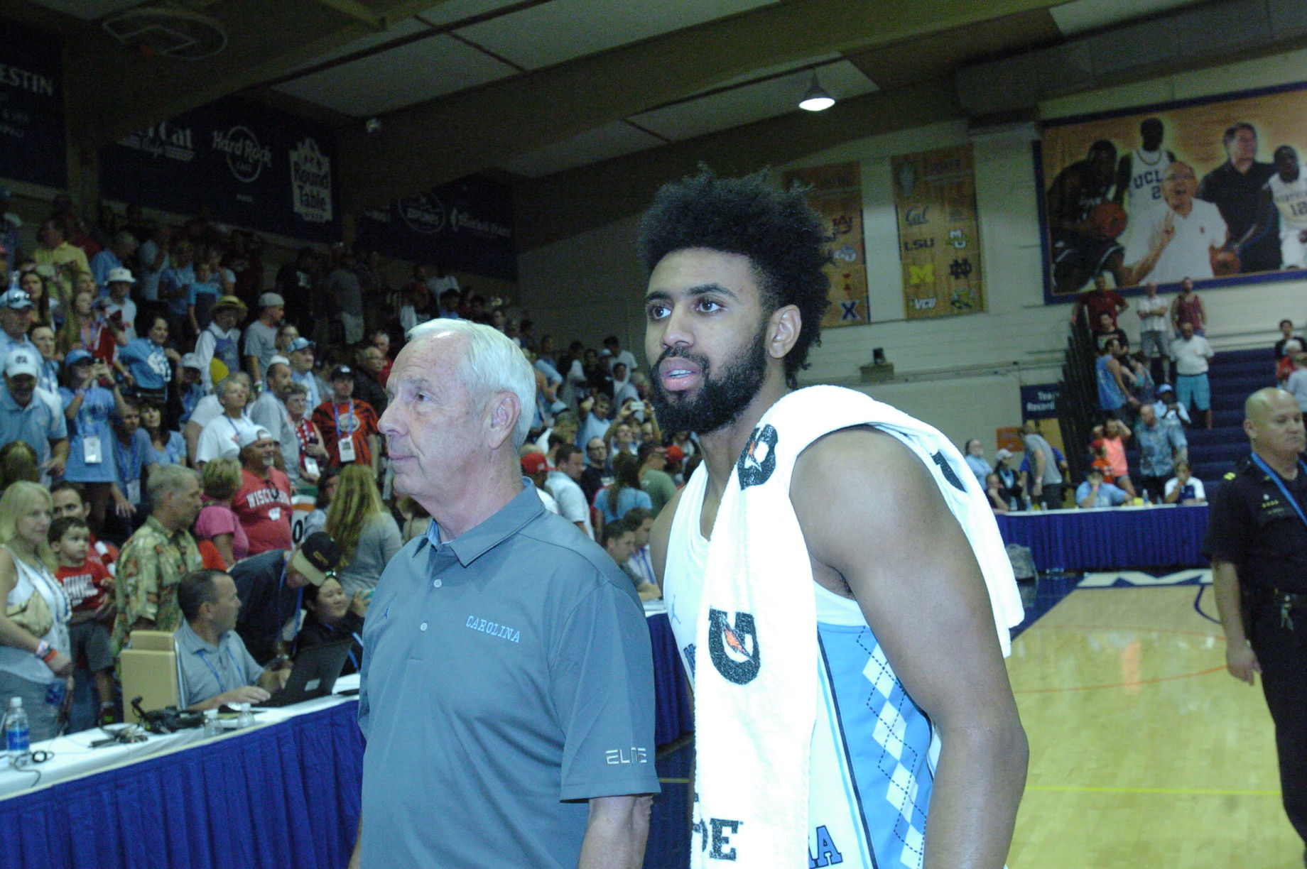 UNC Head Coach and MVP. Championship game between UW vs UNC at the 2016 Maui Jim Maui Invitational. PC: Joel B. Tamayo.