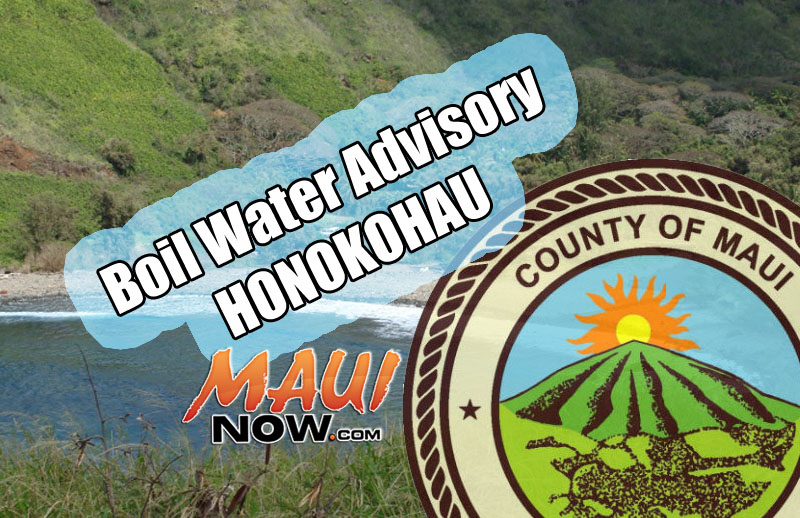 Boil water advisory, Honokōhau. PC: Maui Now.
