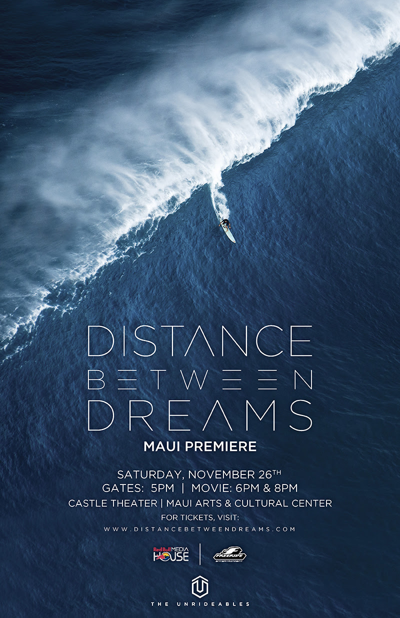 Red Bull Media House presents the Maui premiere of Distance Between Dreams, a film that captures the most historic year in big wave surfing through the eyes of iconic surfer, Ian Walsh, as he sets mind and body in motion to redefine the upper limits of what's considered 'rideable'.