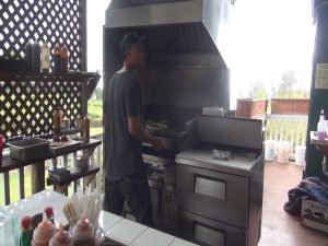 The kitchen in action at 'Ulupalakua Ranch Store. Photo by Kiaora Bohlool.