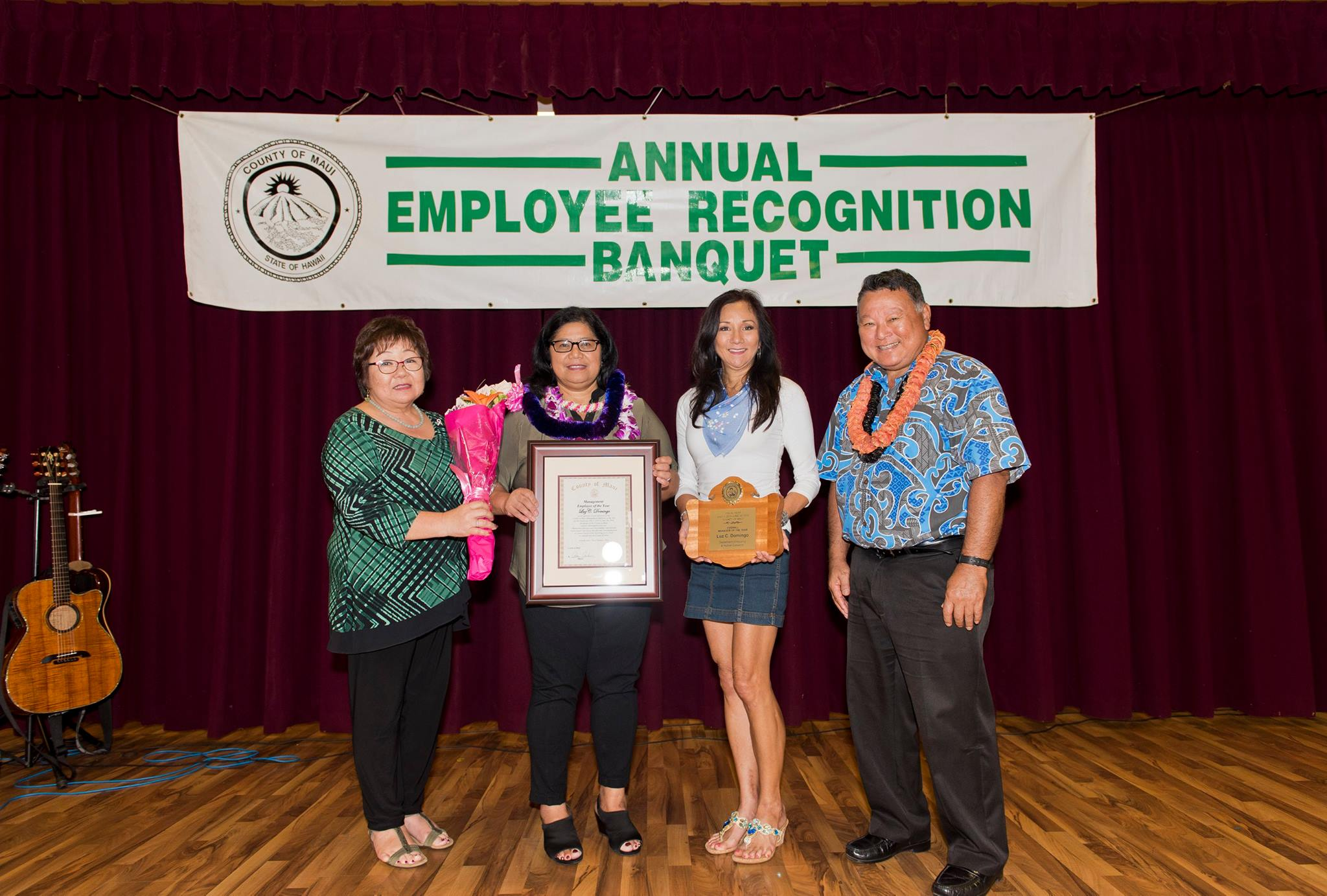County of Maui Manager of the Year, Luz Domingo.