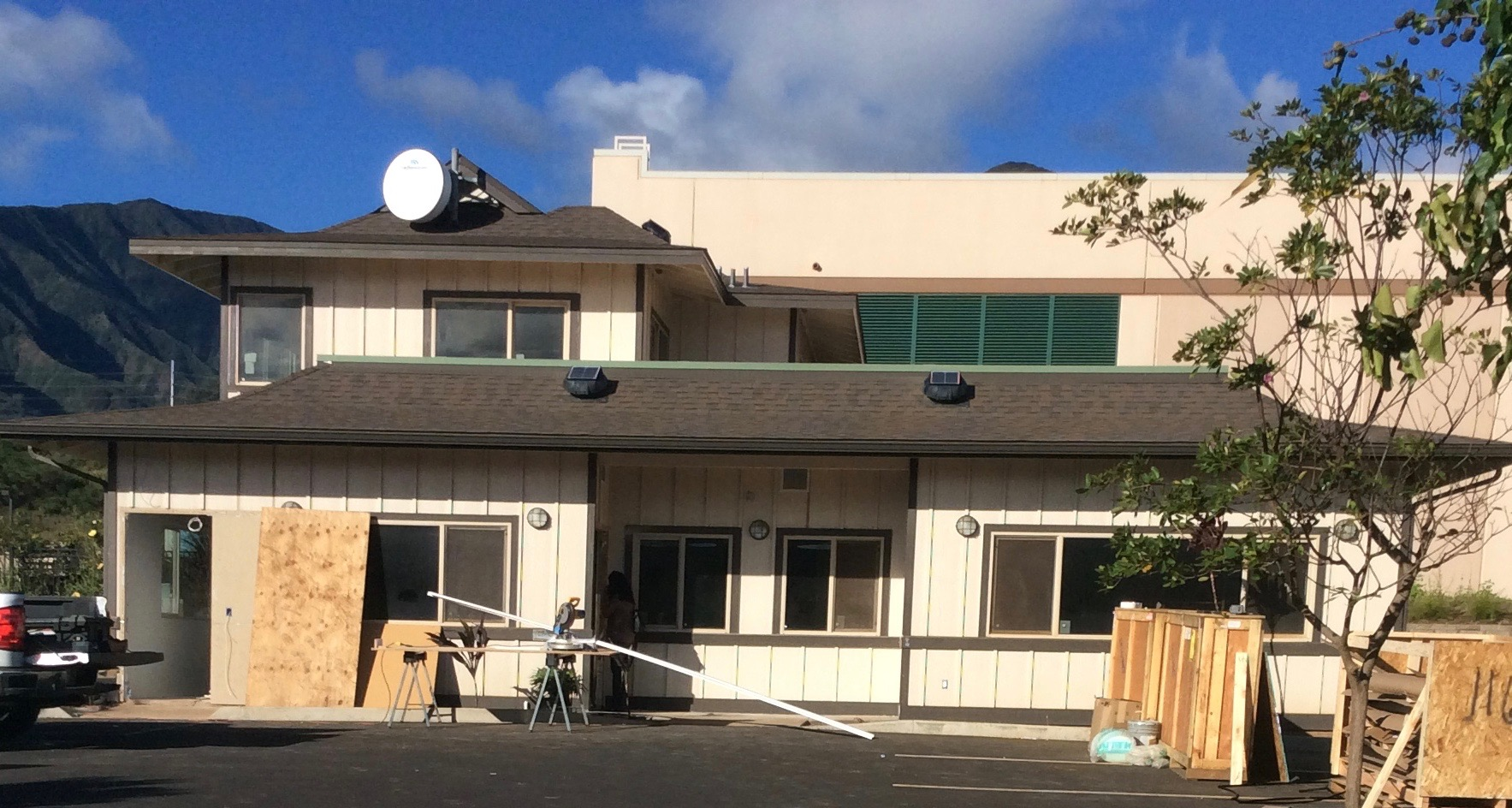Construction site of Maui Grown Therapies at Maui Lani Village Center in Kahului.