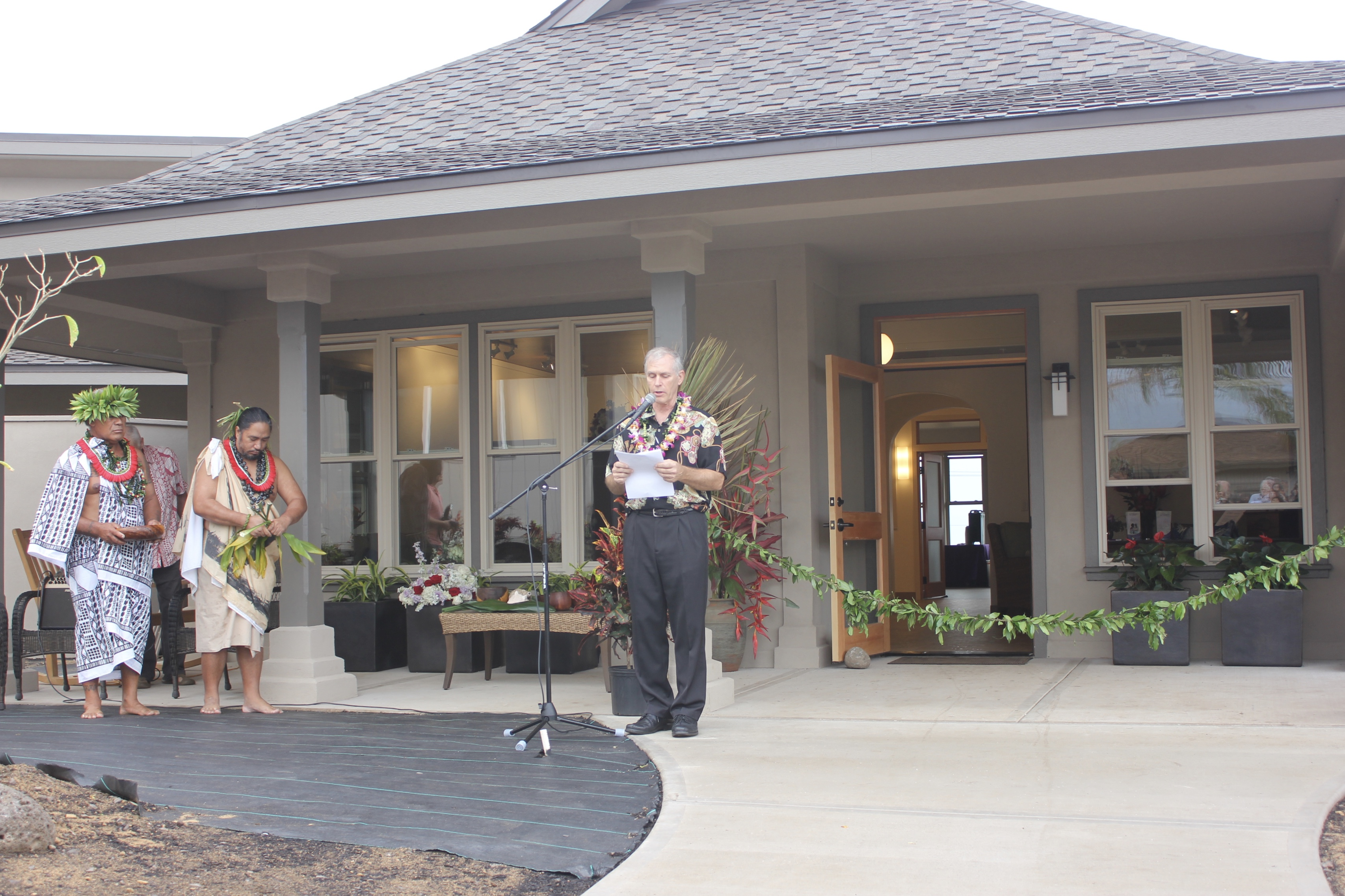 Greg LaGoy, Executive Director of Hospice Maui speaks at the Opening blessing event for Hospice Maui Hale. PC: 12.1.16 Astrid Grupenhoff