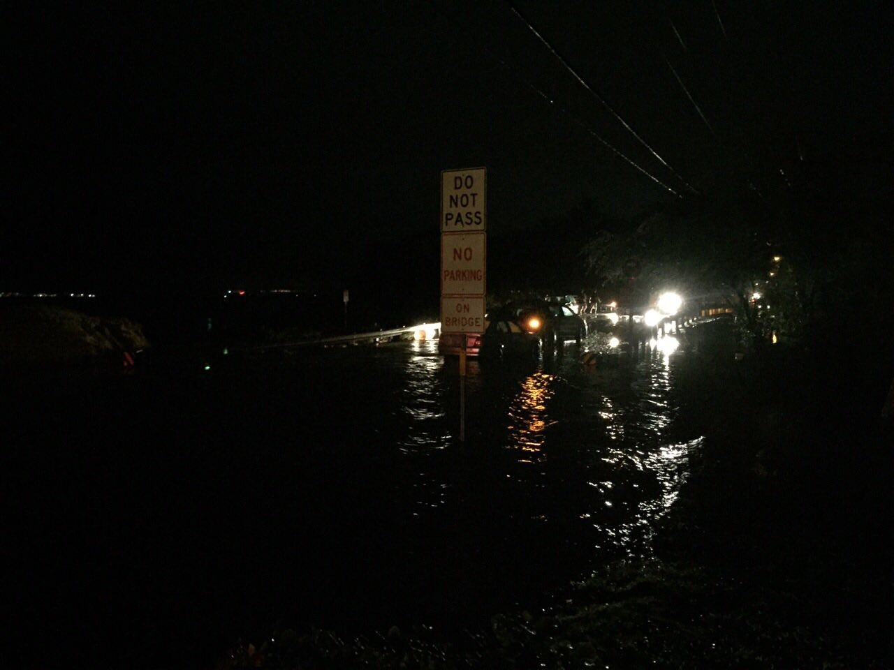 Kīhei flooding, 12.11.16. Photo courtesy: Tina S.
