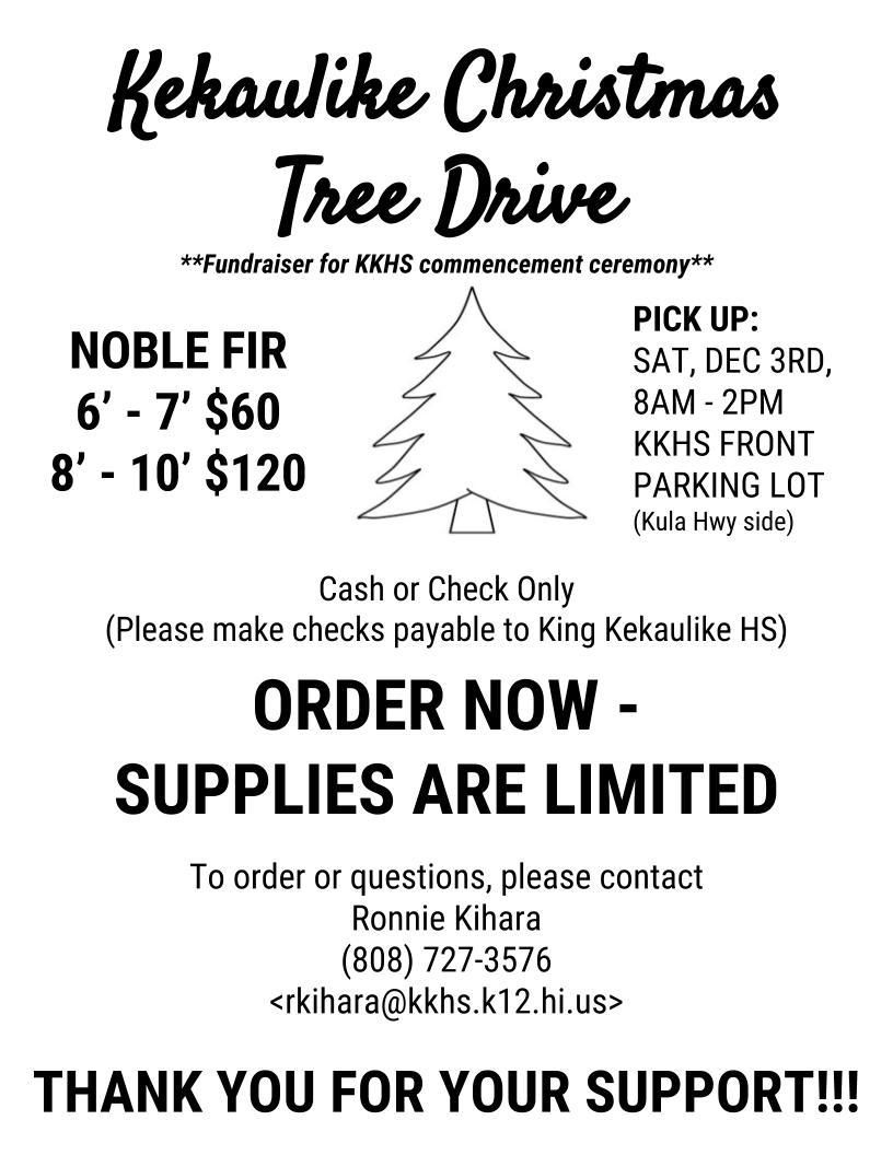 Maui Now Christmas Tree Sale At King Kekaulike Dec 3