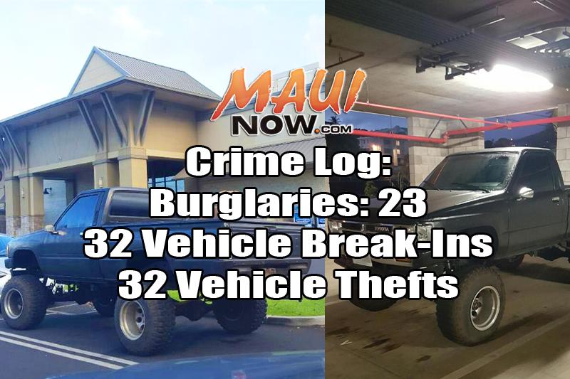 Crime Log: Nov. 27 to Dec. 3, 2016. Maui Now.